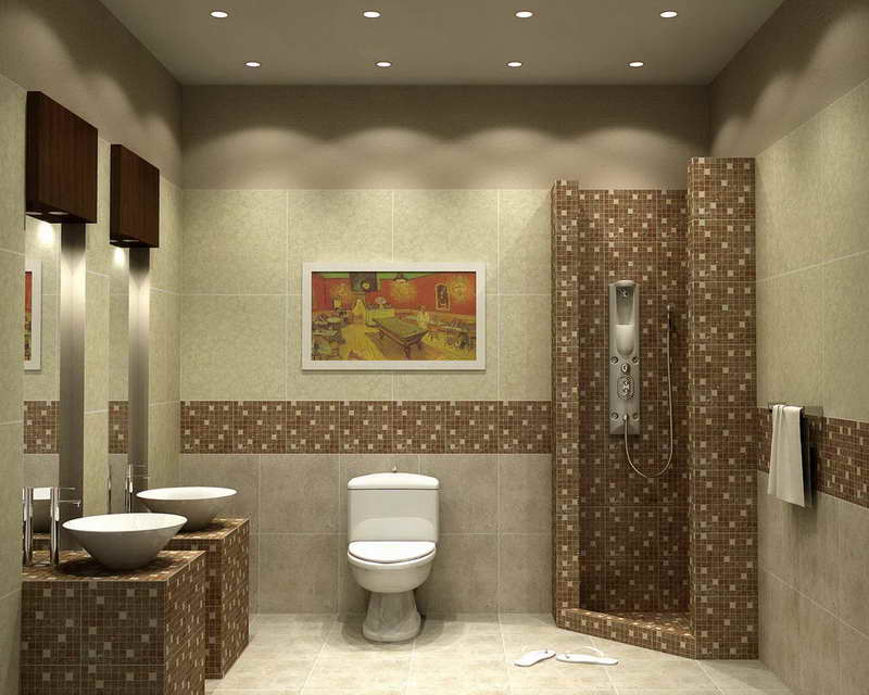 Small Bathroom Floor Tile Designs With Wall Painting Psa Builders